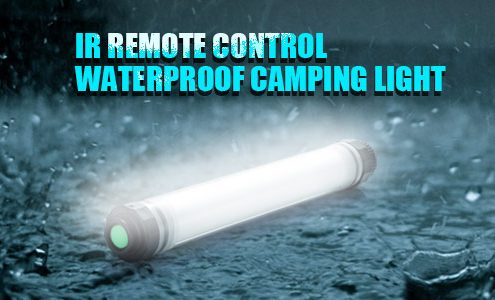 IR Remote Control Waterproof Camping Light