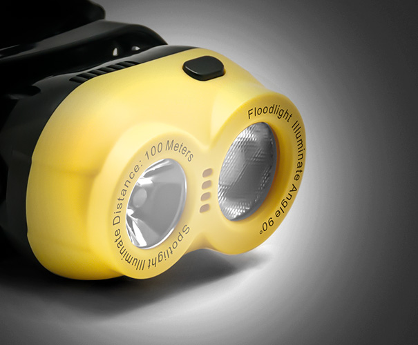 yellow headlamp