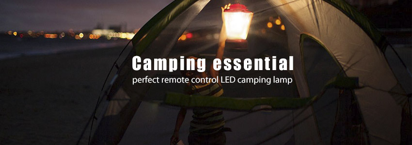 remote control led camping lamp